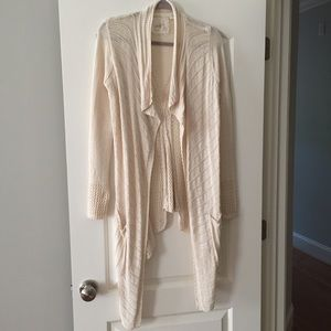 """Anthropologie """"Angel of the North"""" waterfall cardi"""